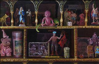 Ropero colonial con objetos de Elena Climent