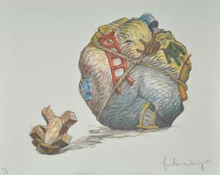 Claes Oldenburg, House Ball with Fallen Toy Bear