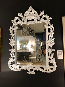 Vintage painted Rococo framed mirror - Courtesy Lee's Antiques