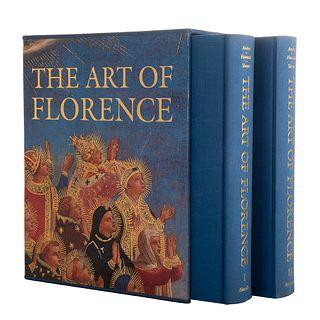 Andres, Glenn - Hunisak, John - Turner, A. Richard. The Art of Florence. New York: Abbeville Press, 1988. Tomos I-II. Piezas: 2.