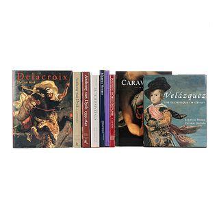 Anthony van Dyck / Johannes Vermeer / Delacroix / Poussin / Velázquez / Caravaggio. Piezas: 9.