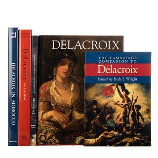 Jobert, Barthélémy / Sérullaz, Arlette / Varios Autores / Wright, Beth S. Delacroix. Piezas: 5.