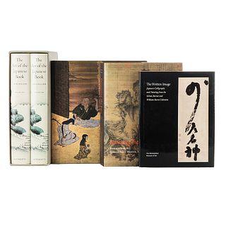 Libros sobre Arte Japonés. The Written Image / Edo. Art in Japan 1615 - 1868 / The Art of the Japanese Book... Piezas: 5.