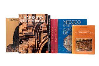 Libros sobre el Barroco en América. México en el Mundo de las Colecciones de Arte / Brasil Barroco /El Paisaje Barroco de México...Pz:7
