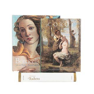 Lightbown, Ronald / Sutton, Peter C. / Tinterow, Gary. Botticelli / The Age of Rubens / Corot. Piezas: 3.