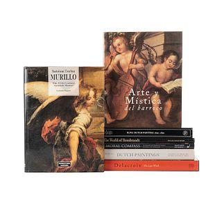 Delacroix/ Arte y Mística del Barroco/ Dutch Paintings/ Bartolomé Esteban Murillo/ Slive/ Rembrandt/ A Moral Compass. Pzas: 7.