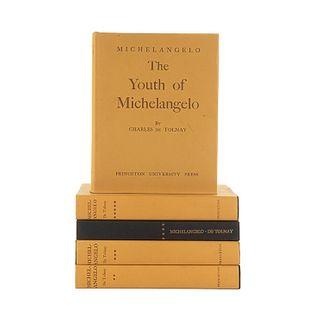 Tolnay, Charles. Michelangelo. New Jersey: Princeton University Press, 1969 - 1971. Tomos I-V. Piezas: 5.
