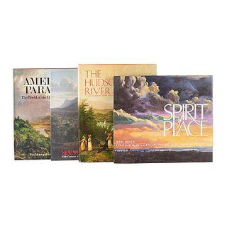Libros sobre Pintura de Paisaje. American Paradise. The World of the Hudson River School / The Hudson River and Its Painters...Pz: 4.