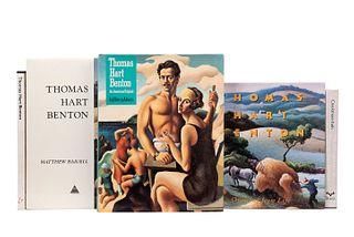 Libros sobre Thomas Hart Benton. Baigell, Matthew/ Adams, Henry/ Fath, Creekmore/ Chiappini, Rudy... Piezas: 5.