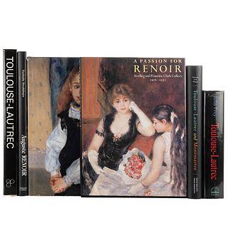 Bailey, Colin / Brodskaya, Natalia / Kern, Steven / Targat, Francois le... Libros sobre Auguste Renoir y Toulouse-Lautrec. Piezas: 6.