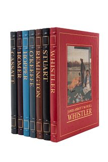 Easton Press Library of American Art. Hobbs, Robert/ Walker, John... Edward Hopper/ James Abbott McNeill Whistler... Piezas: 7.