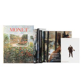Gordon, Robert / Spate, Virginia / Pisarro, Joachim / Wilson - Bareau, Juliet / Rachman, Carla.  Libros sobre Monet. Piezas: 6.