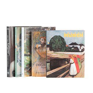 Kendall, Richard / Adelson, Warren / Ormond, Richard / Stang, Ragna. Libros sobre Sargent, Degas y Munch. Piezas: 5.