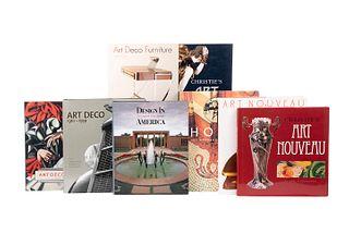 Libros sobre Art Decó y Art Noveau. Art Nouveau 1890 - 1914 / Art Deco 1910 - 1939 / Horta. Art Nouveau to Modernism... Piezas: 8.