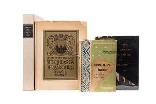 Libros sobre Arte de Brasil. Religious Images of Brazil / Reliquias da Terra do Ouro / The Baroque Prevalence in Brazilian Art... Pz: 4