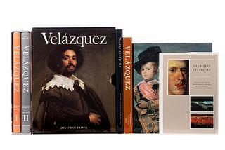 Libros sobre Diego Velázquez. Brown, Jonathan / López-Rey, José / Domínguez Ortíz, Antonio / Davies, David... Piezas: 7.