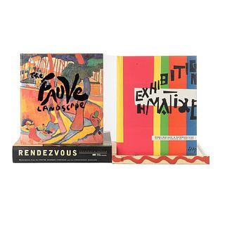 Libros sobre Fauvismo. Rendezvous / The Fauve Landscape / Henri Matisse. A Retrospective / Amat. Cuatro Paisajes de Fondo... Pz: 4.