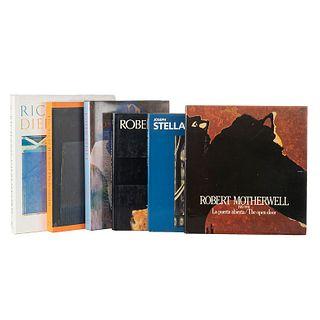 Haskell, Barbara/ Livingston, Jane. Joseph Stella/ The Art of Richard Diebenkorn/ Robert Motherwell... Piezas: 6.