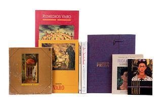 Libros sobre Pintoras Surrealistas. El Ropero de Frida / In Wonderland. Las Aventuras Surrealistas de Mujeres Artistas... Pz: 8.