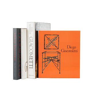 Bonnefoy, Yves / Klemm, Christian / Marchesseau, Daniel. Libros sobre Alberto y Diego Giacometti. Piezas: 4.