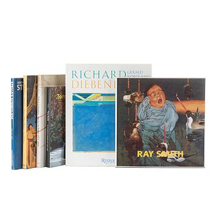 Libros sobre Artistas Estadounidenses. Richard Diebenkorn / Tony Smith. Architect. Painter. Sculptor / Julian Schnabel. Works... Pz: 6.