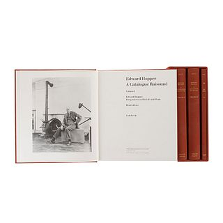 Levin, Gail. Edward Hopper: A Catalogue Raisonné. New York - London, 1995. Tomos I - IV. Primera edición. Piezas: 4.