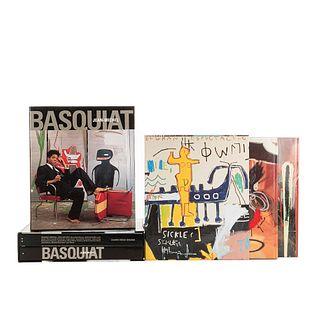 Catálogos de la Obra de Jean-Michel Basquiat. Prat, Jean-Louis - Marshall, Richard / Blistène, Bernard- Thompson, Robert. Piezas: 5.