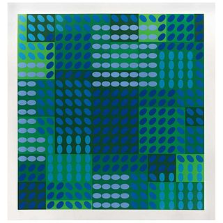 "VICTOR VASARELY, Tavoll Positive, 1970, Signed, Serigraph XX / CXC, 26.5 x 25.3"" (67.5 x 64.3 cm)"