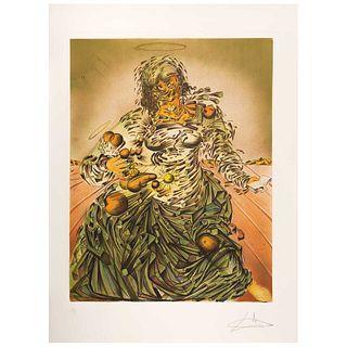 "SALVADOR DALÍ, Triumphant Madonna, 1982, Signed, Lithography 175 / 300, 22.4 x 17.3"" (57 x 44 cm)"