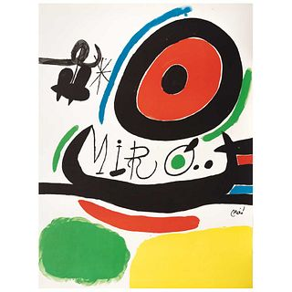 """JOAN MIRÓ, Exhibition Poster """"Tres Libres de Joan Miró en Osaka"""", 1970, Signed on plate, Lithography w/o print number, 29.9 x 22"""" (76 x 56 cm)"""