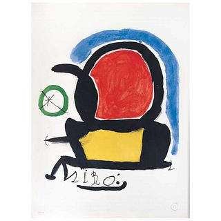 """JOAN MIRÓ, Exhibition Poster Sala Gaspar, 1970, Signed with monogram, Lithography 190 / 200, 29.9 x 21.6"""" (76 x 55 cm)"""