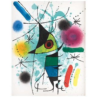 """JOAN MIRÓ, Pez cantante, 1972, Unsigned, Lithography without print number, 12.5 x 9.4"""" (32 x 24 cm)"""