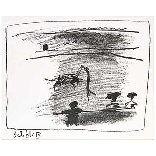 PABLO PICASSO, IV, from the binder Picasso: Toreros; With Four Original Lithographs