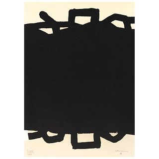 "EDUARDO CHILLIDA, Sans titre, 1999, Signed on plate, Lithography on cardboard U600 / 1000, 17.7 x 12.6"" (45 x 32.2 cm)"