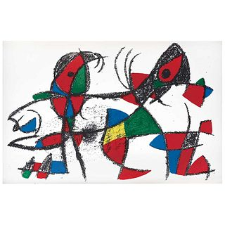 """JOAN MIRÓ, Litografía original X, from the suite 12 Litografías originales, 1972, Unsigned, Lithography without print number, 11.8 x 19.6"""" (30 x 50cm)"""