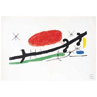 """JOAN MIRÓ, Sala Pelaires, Palma de Majorca, 1970, Signed on plate, Lithography H. C., 14.5 x 21.6"""" (37 x 55 cm)"""