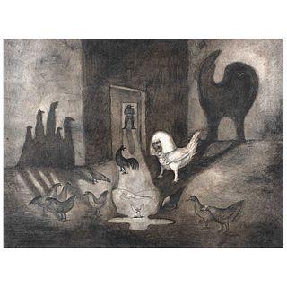 "LEONORA CARRINGTON, DOMINGO / ""SUNDAY"", 1978, Signed, Lithography 30 / 50, 23.2 x 31.1"" (59 x 79 cm)"