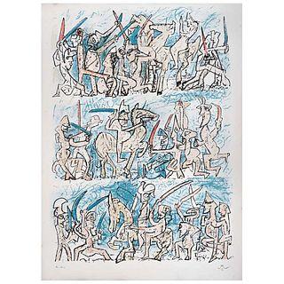"""ROBERTO MATTA, Untitled, Signed, Lithograph e. a, 29.9 x 21.6"""" (76 x 55 cm)"""