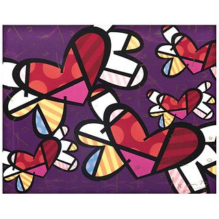 """ROMERO BRITTO, Love is in the Air, Signed, Giclée 20 / 70, 15.9 x 20"""" (40.6 x 50.8 cm), Certificate"""