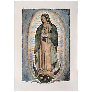 """ARTURO ZAPATA, Tonantzín Guadalupe, 2007, Signed, Lithograph 81 / 100, 26.3 x 16.5"""" (67 x 42 cm)"""