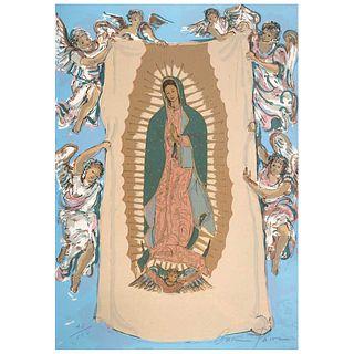 """CARMEN PARRA, Virgen de Guadalupe, Signed, Serigraphy 40 / 100, 27.5 x 20.2"""" (70 x 51.5 cm)"""