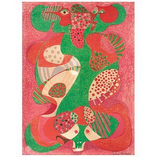 """PEDRO CORONEL, Hombre Calavera, Signed, Lithography XXVI / XXX, 29.5 x 21.6"""" (75 x 55 cm)"""