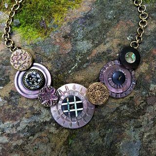 Shannon Lucas, Evening at Sea Vintage Button Necklace