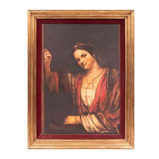 Firmado M. Ramos. Retrato. Firmado y fechado 82. Óleo sobre tela. Enmarcada. 70 x 50 cm.