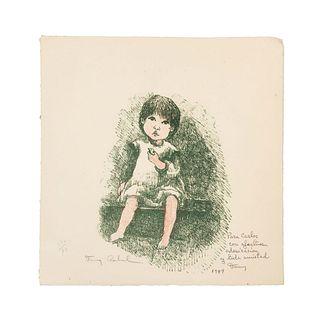 FANNY RABEL. Sin título. Firmado y fechado 1989. Litografía 11/70. Sin enmarcar. 23 x 24 cm