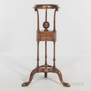 George III Mahogany Wig Stand, late 18th/early 19th century, ht. 36 in.