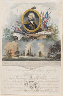 Piercy Roberts (British, active c. 1785-1824), Admiral Lord Nelson K.B. and the Victory of the Nile, Published by George Riley, London,
