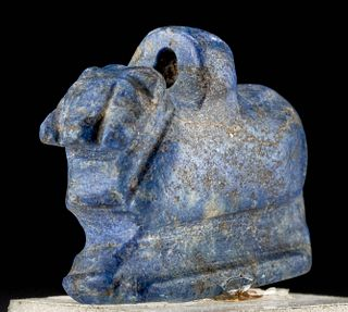 Egyptian Sodalite Amulet Ram Form, ex-Royal Athena