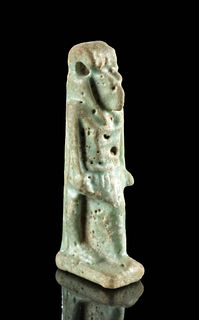 Fine Egyptian Faience Amulet of Bastet