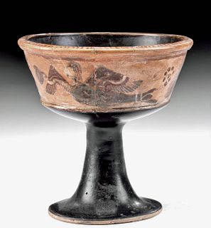 Near-Miniature Greek Corinthian Pottery Chalice